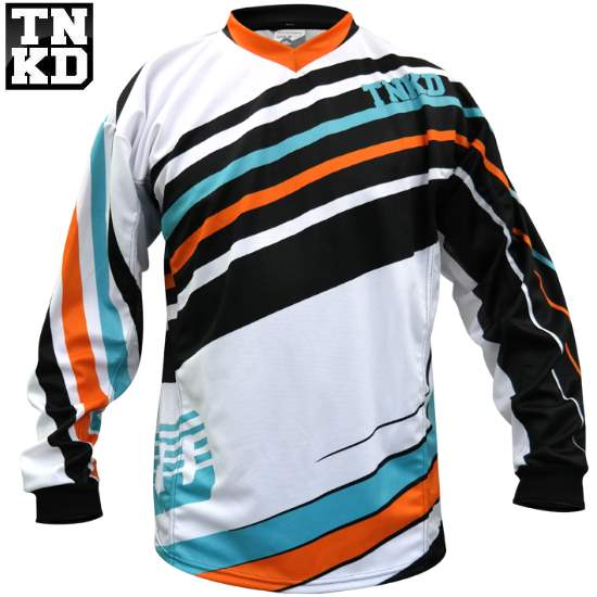 Tanked BASIC Paintball Jersey (weiss/orange) - 2XL
