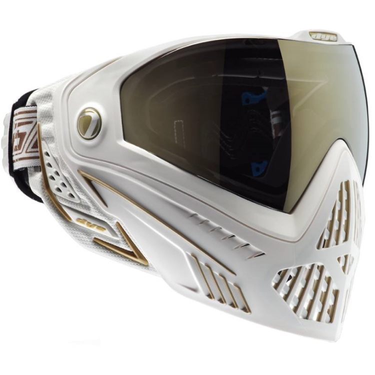 Dye I5 Paintball Thermal Maske (weiss/gold)