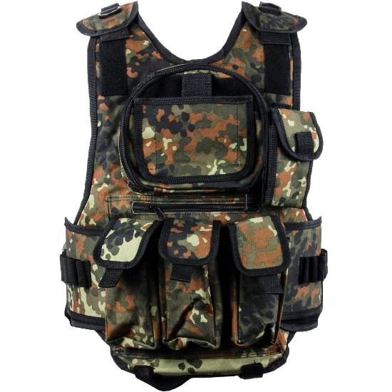 Paintball Tactical Weste 6+1 (Flecktarn Camo)