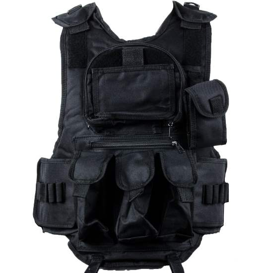 Paintball Tactical Weste 6+1 (schwarz)