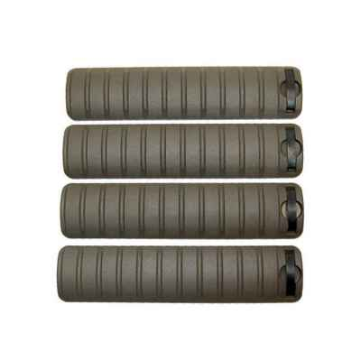 20mm Weaver Rail Cover LONG (4er Pack, oliv) | Paintball Sports