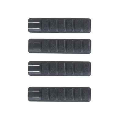 20mm Weaver Rail Cover LONG (4er Pack, schwarz) | Paintball Sports