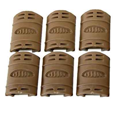 AR-15 Weaver Rail gummi Cover, 6er Pack (TAN) | Paintball Sports