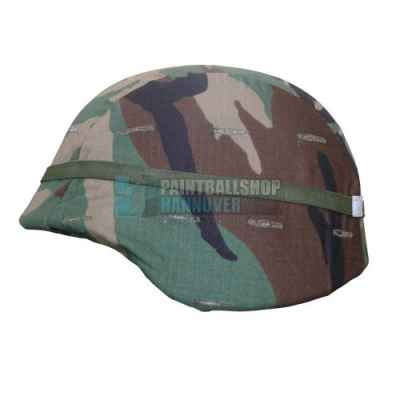 Tarnbezug für Paintball Tactical Helme (Woodland Camo) | Paintball Sports