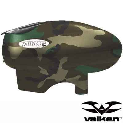 Valken V-Max2 Paintball Hopper / Loader (Woodland Camo) | Paintball Sports