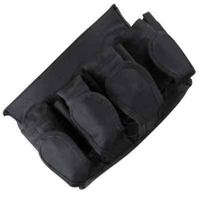 Paintball Battlepack (4+5) mit Velcro Belt (schwarz) | Paintball Sports