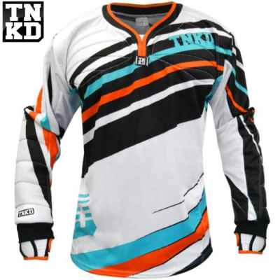 Tanked Paintball GOLD Pro Jersey (weiss/orange) - M | Paintball Sports