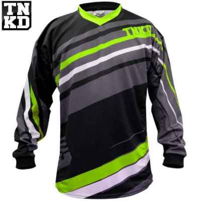 Tanked BASIC Paintball Jersey (schwarz/grün) - XL | Paintball Sports