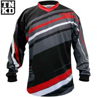 Tanked BASIC Paintball Jersey (schwarz/rot) - L | Paintball Sports