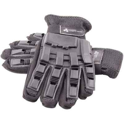 Paintball Vollfinger Handschuhe mit Protektoren (schwarz, M) | Paintball Sports