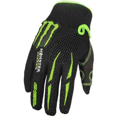 Monster-Energy Paintball Handschuhe (black/lime) | Paintball Sports