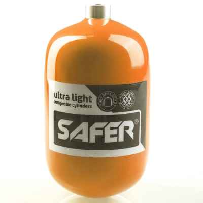 Safer 1,2 Liter Composite HP Flasche (300 Bar) - orange | Paintball Sports