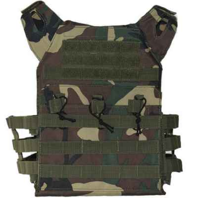 ACM Jumper Tactical / Plate Carrier Molle Weste (Woodland Camo) | Paintball Sports