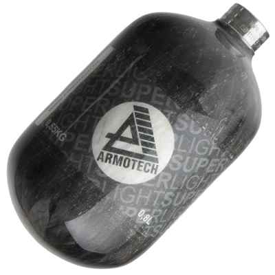 Armotech 0,8 Liter (300 Bar) HP Flasche - Nur 650 Gramm! | Paintball Sports