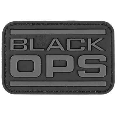 Paintball / Airsoft PVC Klettpatch (Black OPS)   Paintball Sports
