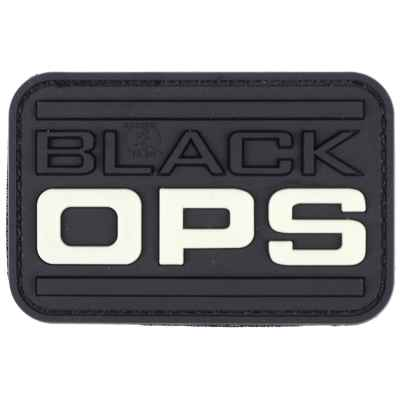 Paintball / Airsoft PVC Klettpatch (Black OPS - Glow In The Dark) | Paintball Sports
