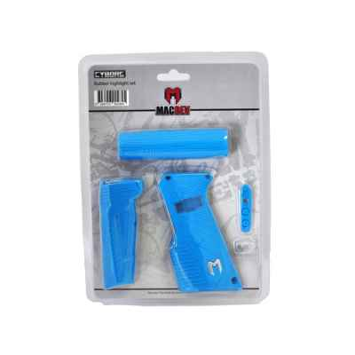 MacDev Clone 5s / Cyborg 6 Rubber set (cyan) | Paintball Sports