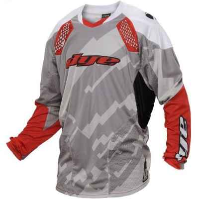 DYE C14 Paintball Jersey / Trikot (Airstrike Grey Red, L/XL) | Paintball Sports