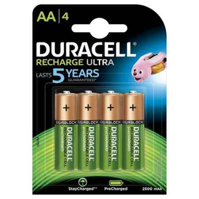 Duracell Ultra 1,2 Volt Paintball Akku mit 2500 mAh (4er Pack) | Paintball Sports