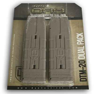 DYE DAM 20 Schuss Ersatzmagazine 2er Pack (tan) | Paintball Sports