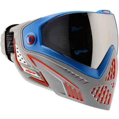Dye I5 Paintball Thermal Maske (Patriot - blau/rot) | Paintball Sports