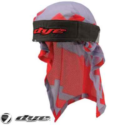 Dye Paintball Head Wrap (Airstrike Grey/Red) | Paintball Sports