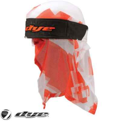 Dye Paintball Headwrap (Airstrike Orange/white) | Paintball Sports