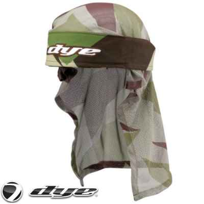 Dye Paintball Headwrap (Barracks Green / Olive Camo) | Paintball Sports