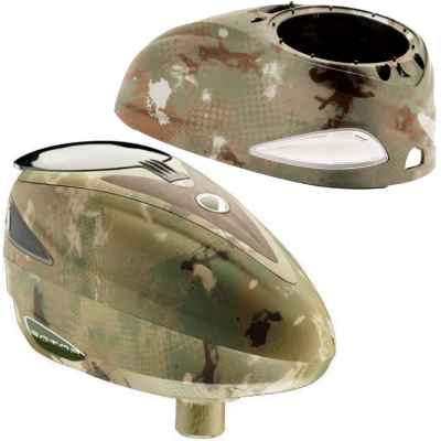 DYE Rotor Hopper Paintball Loader PGA DYECAM Camo + Top Shell | Paintball Sports