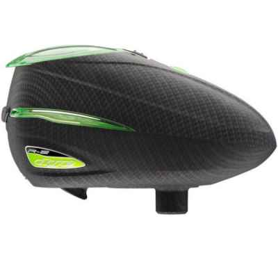 Dye Rotor R-2 Paintball Loader (Carbon / Lime Green) | Paintball Sports