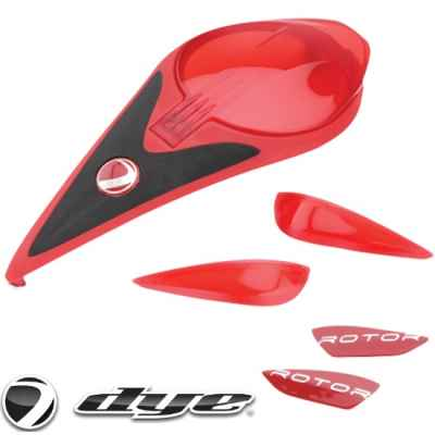 DYE Rotor Hopper Color Kit (rot / red) | Paintball Sports