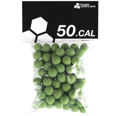 Cal. 50 Paintball Rubberballs / Gummigeschosse (100 Stück) - GRÜN | Paintball Sports
