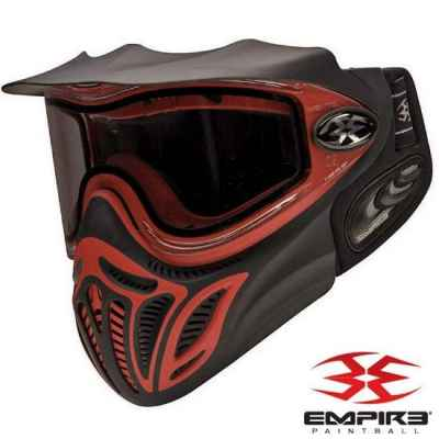 Empire E-Vent ZN Paintball Thermal Maske (schwarz/rot) | Paintball Sports
