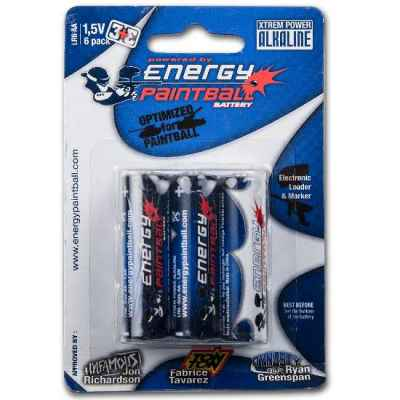 Energy Paintball AA Batterien 1,5 Volt Alkaline (6er Pack) | Paintball Sports