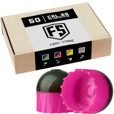 First Strike Paintballs 50 Schuss Box (grau/pink) | Paintball Sports