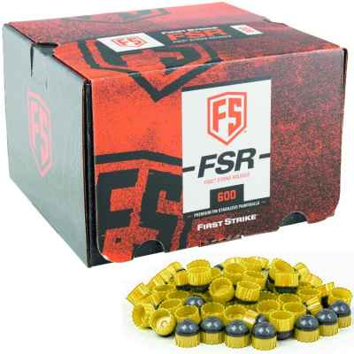 First Strike Paintballs 600 Schuss Box (grau / gelb) | Paintball Sports