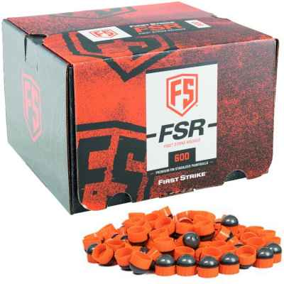 First Strike Paintballs 600 Schuss Box (grau / orange) | Paintball Sports