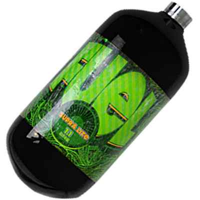 Fuel Supralite 1,1 L Composite HP Flasche (300 Bar) - schwarz | Paintball Sports