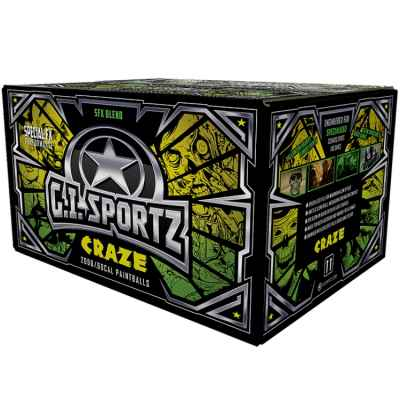 G.I. Sportz Craze UV Leucht-Paintballs (2000er Karton) | Paintball Sports
