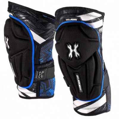 HK Army Crash Paintball Kneepads / Knieschoner (schwarz/blau) M | Paintball Sports