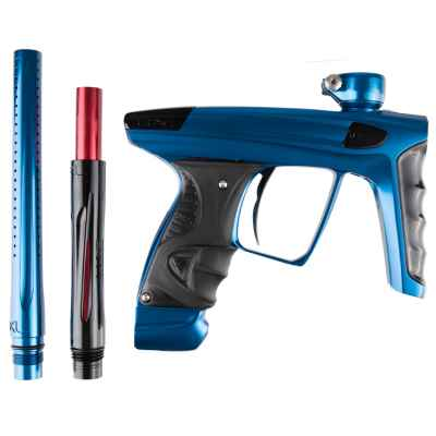 DLX Luxe X Paintball Markierer (Blue Polished/ Black Polished) | Paintball Sports