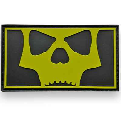 L.A. Infamous Icon Skull Full Patch (Black Volt) | Paintball Sports
