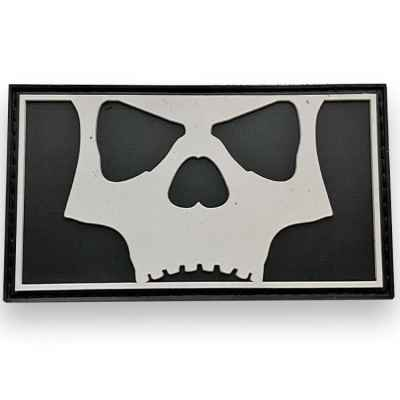 L.A. Infamous Icon Skull Full Patch (Black/White) | Paintball Sports