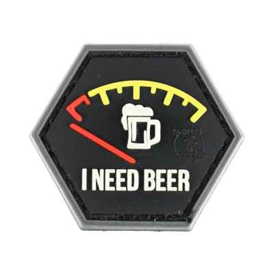 Paintball / Airsoft PVC Klettpatch (I Need Beer) | Paintball Sports