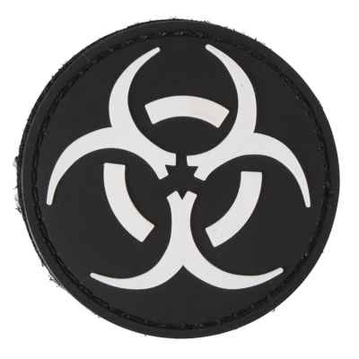 Paintball / Airsoft PVC Klettpatch (Biohazard, black) | Paintball Sports