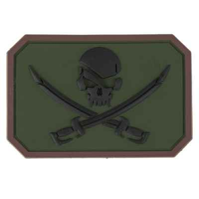 Paintball / Airsoft PVC Klettpatch (Pirate, oliv) | Paintball Sports