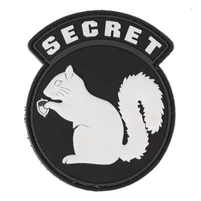 Paintball / Airsoft PVC Klettpatch (Secret, black) | Paintball Sports