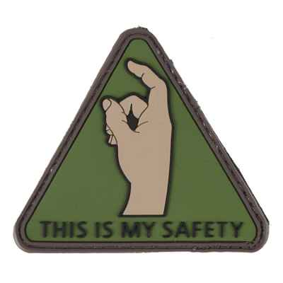Paintball / Airsoft PVC Klettpatch (This is my Safety) | Paintball Sports