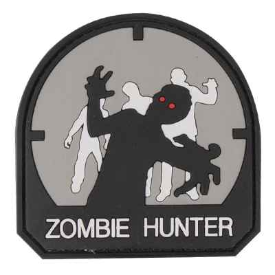Paintball / Airsoft PVC Klettpatch (Zombie Hunter, grey) | Paintball Sports