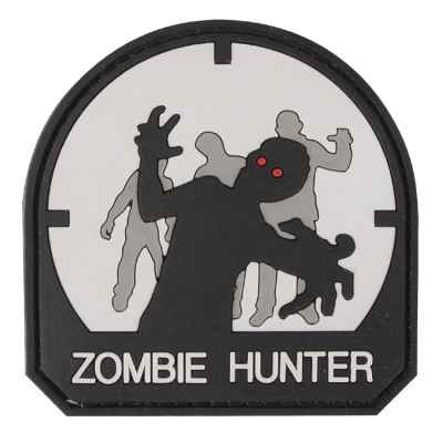 Paintball / Airsoft PVC Klettpatch (Zombie Hunter, white) | Paintball Sports